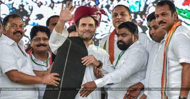 Rahul Gandhi would address two open meetings in Telangana