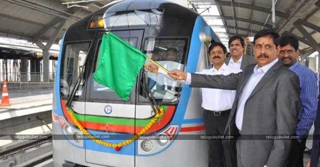 Hyderabad Metro Trial Run to Hi-Tec City Is Begin
