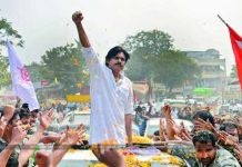 Janasena Chief Pawan Kalyan is on campaigning