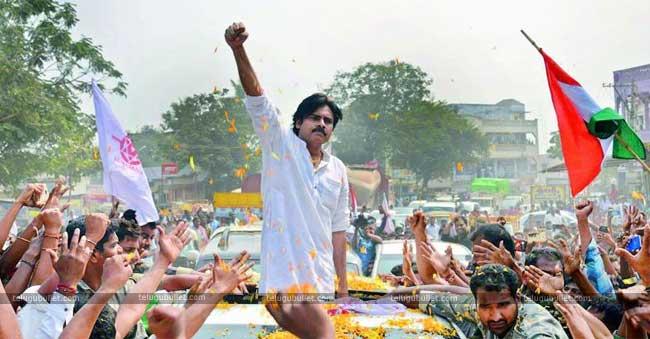 Janasena Chief Pawan Kalyan is on campaigning