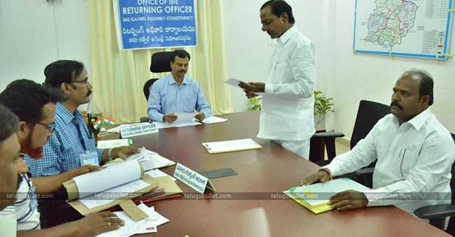 KCR Files His Nomination From Gajwel