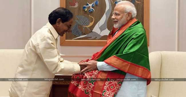 KCR for praising Modi during the times