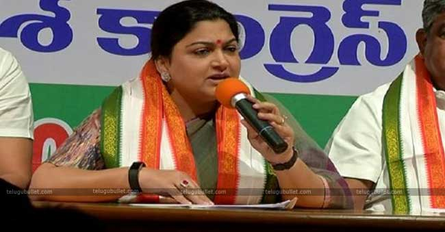 Kushboo Launches A Scathing Attack On TRS