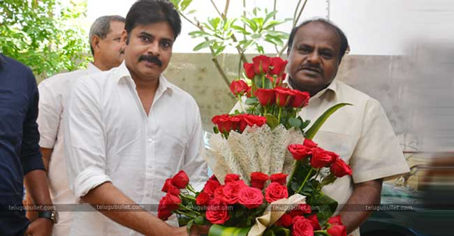 Pawan Kalyan's Meet With JDS Chief For A Special Purpose