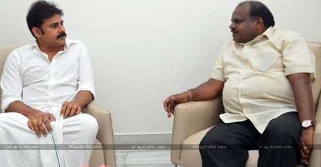 Pawan met Kumaraswamy exactly