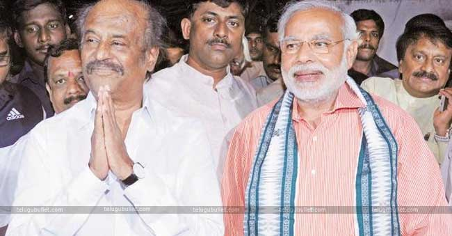 Rajini who heaped praises on Narendra Modi