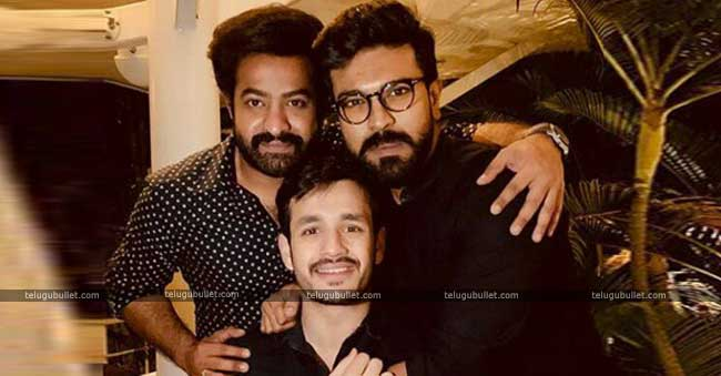 Charan-Tarak Joins Akhil For A Private Party