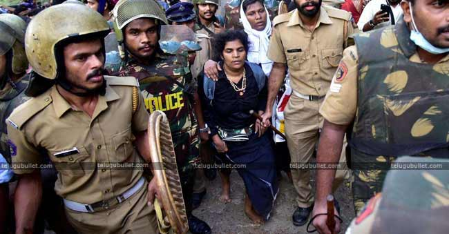 Massive Protests In Kerala Over Women Entry Into Sabarimala