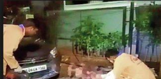 Koganti Sathyam at Taskforce police office for questioning