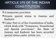 Rajya Sabha: Jammu and Kashmir would be an integral part of India