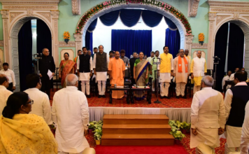 The first cabinet extension of UP govt has finished with 23 ministries