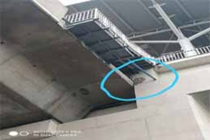 Woman dies after a piece of slab from Hyderabad Metro rail station falls on her head