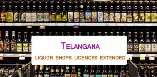 Telangana govt extends liquor shops license