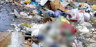 New born girl child wrapped in plastic bag found in garbage at Panjagutta