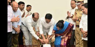 CM YS Jagan's birthday celebrations at Tadepalli camp office