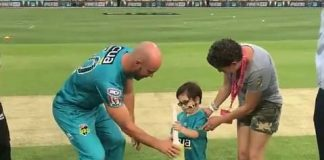 Five-Year-Old Suffering From Brain Cancer Does 'Bat Flip' In BBL Match