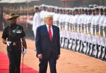 Donald Trump Given Ceremonial Welcome At Rashtrapati Bhavan