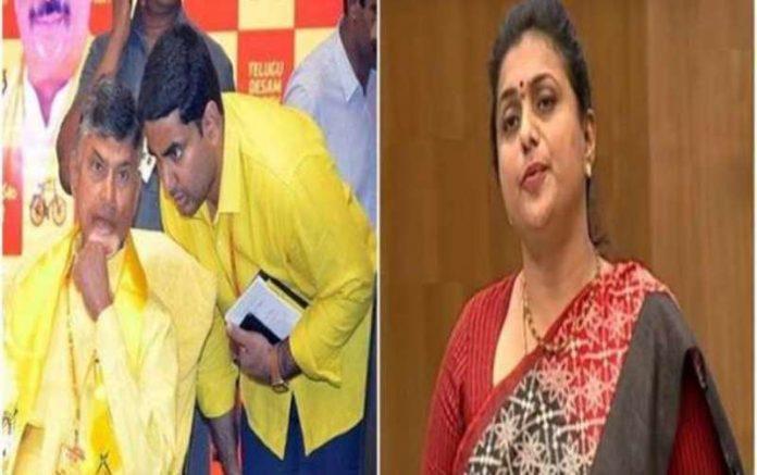 Nagari MLA Roja hit back at TDP chief Chandrababu Naidu and Nara Lokesh