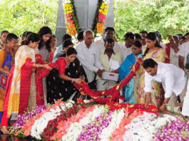 Andhra CM pays tributes to father YSR, releases mother's book