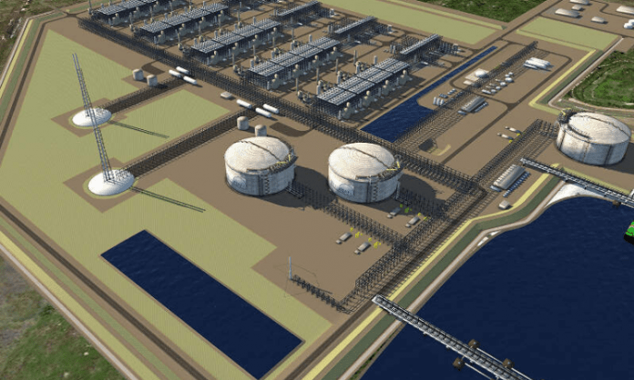 LNG terminal in Louisiana.