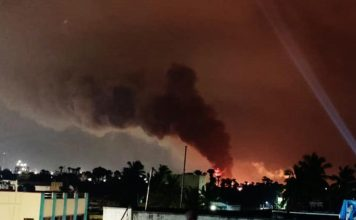 A massive fire broke out in Visakhapatnam