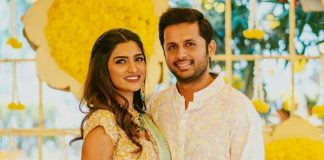 Nithin and his wife Shalini flew to Dubai