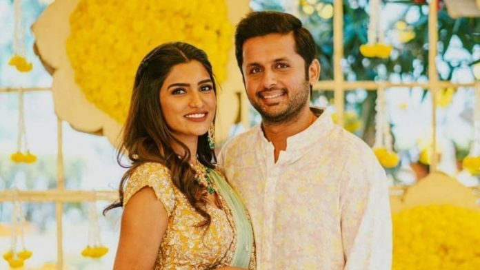 Nithin and his wife Shalini flew to Dubai